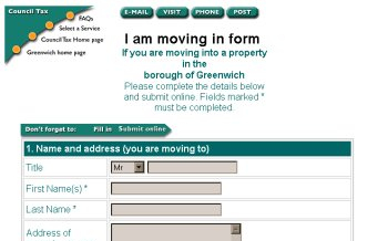 Council Tax forms
