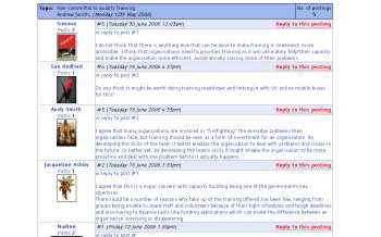 Sample discussion forum