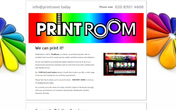 Photo: A new website developed for the PrintRoom