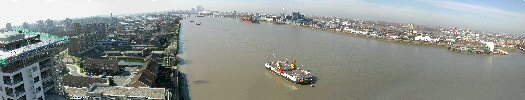 Panoramic photo - Woolwich River Thames view