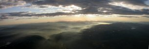 Panoramic photo - Above the clouds