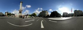 Panoramic photo - Trafalgar Square